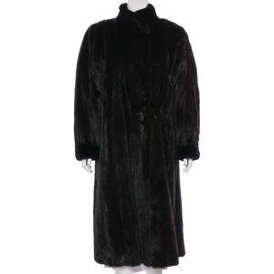 Jackets & Blazers - Long Faux Mink w/Standing Collar Coat
